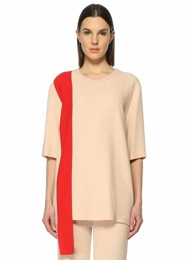 Stella Mccartney Yarım Kollu Şerit Detaylı Bluz Pudra
